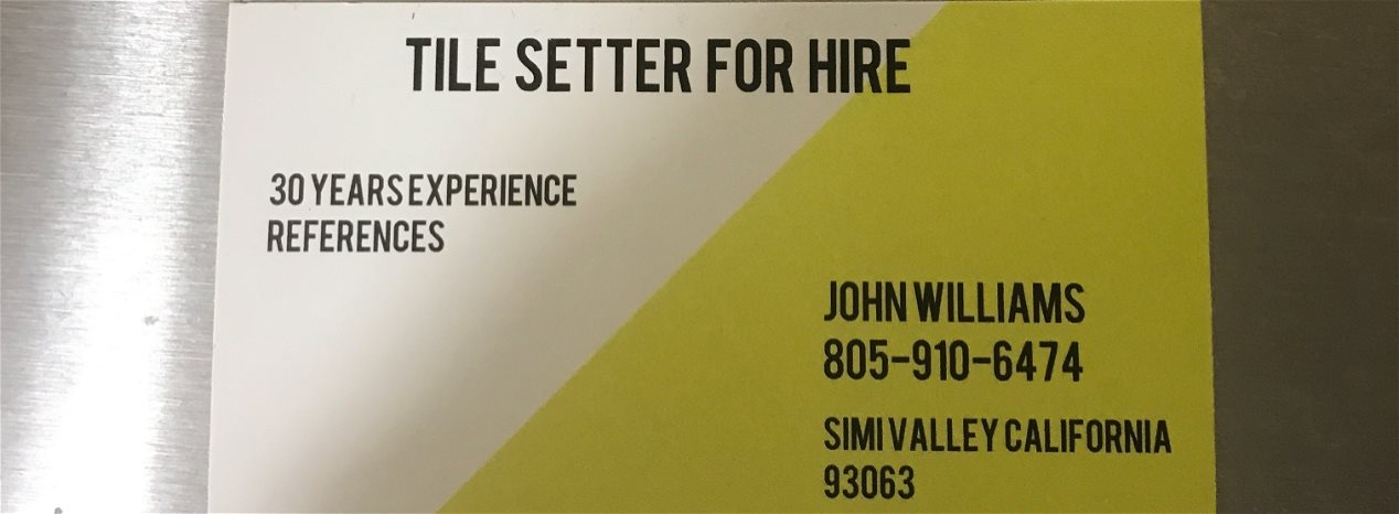 Tile setter for hire
